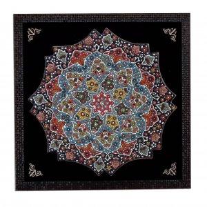 بشقاب سفالی مینا،فروشگاه صنایع دستی نیلگون