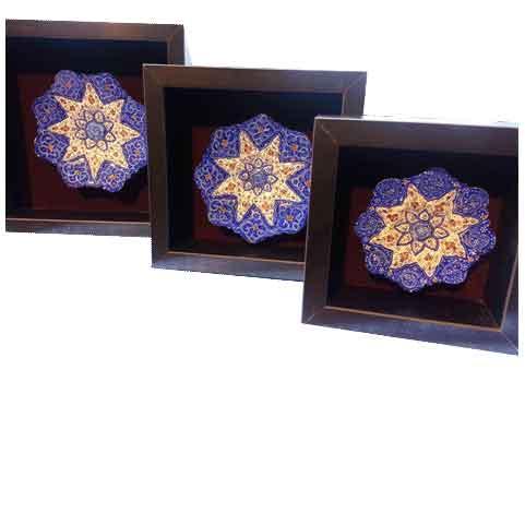 سری بشقاب سه تایی ،فروشگاه صنایع دستی نیلگون