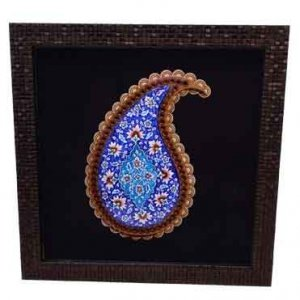 تابلو بته ترمه میناکاری ،فروشگاه صنایع دستی نیلگون