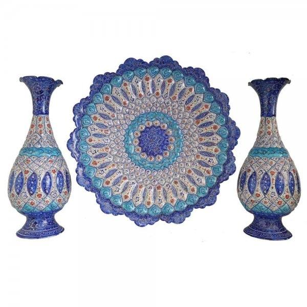 ظروف میناکاری ست شده،فروشگاه صنایع دستی نیلگون