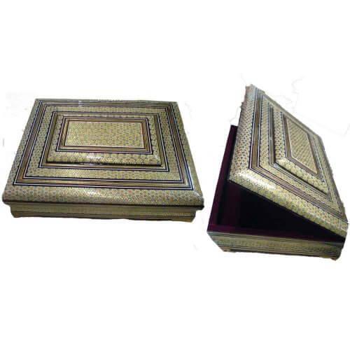 جعبه قرآنی خاتم ،فروشگاه صنایع دستی نیلگون