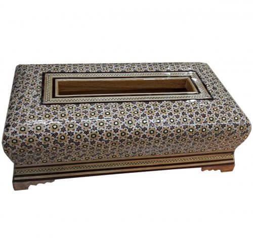 جعبه دستمال خاتم کاری ،فروشگاه صنایع دستی نیلگون
