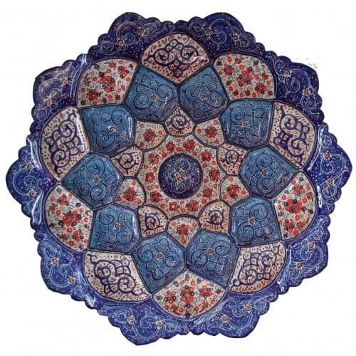 بشقاب مینا ۱۶ سانتی ،فروشگاه اینترنتی صنایع دستی نیلگون