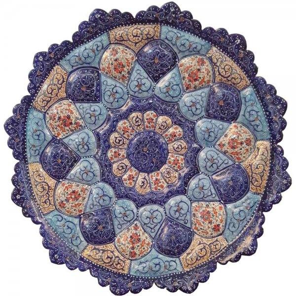 بشقاب مینا کاری 20 سانتی، فروشگاه آنلاین صنایع دستی نیلگون
