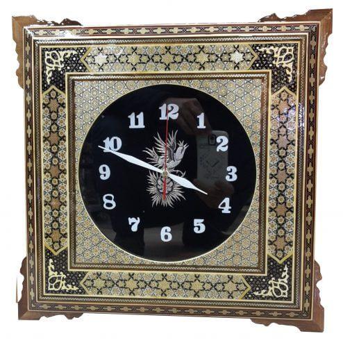 ساعت دیواری خاتم کاری شده ،فروشگاه صنایع دستی نیلگون