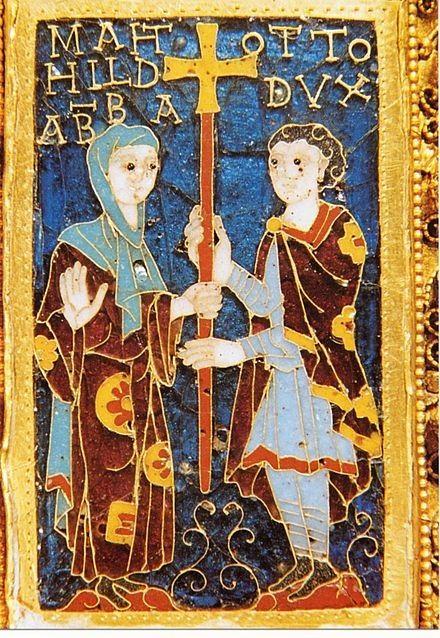 میناکاری عثمانی حدود سال ۹۸۲ : Mathilde و برادرش Otto